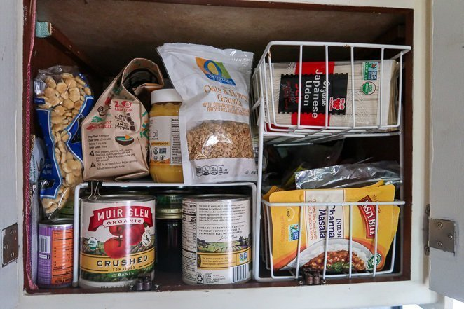 Motorhome Kitchen Cupboard Organization