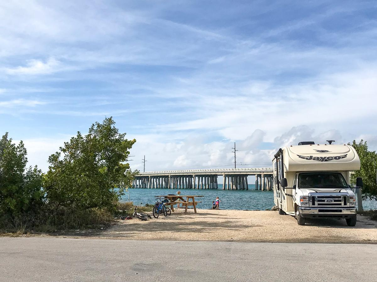 RV power with a surge protector at Bahia Honda State Park