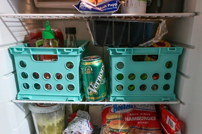 rv fridge storage ideas