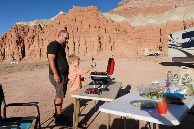 Camping trailer rental tips - bring your own food