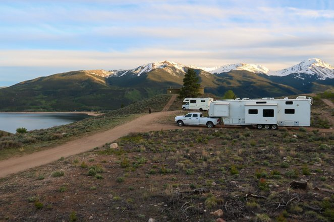 Camping at Twin Lakes Colorado