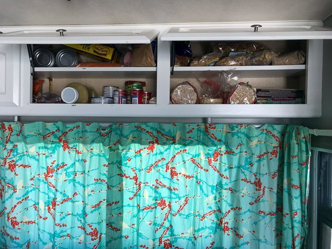 RV Cupboards Organized
