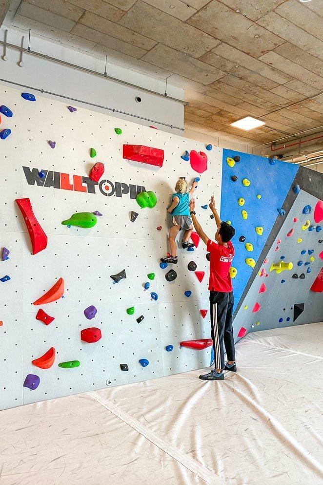 Go rock climbing with Camp5 Climbing Gym