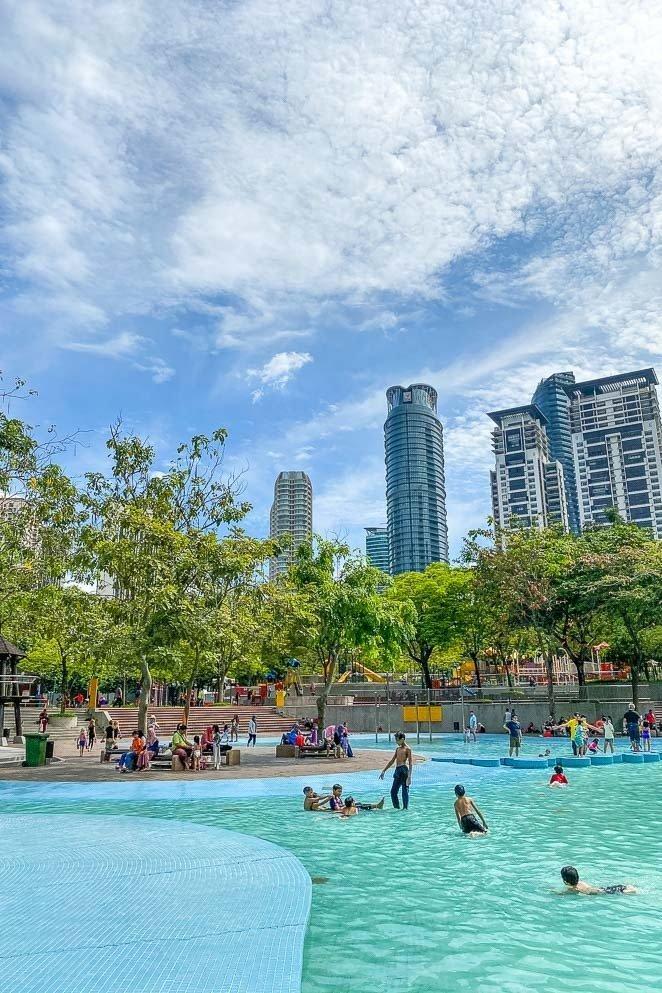 Go swimming at KLCC Park_