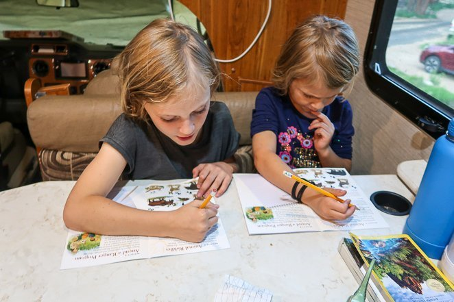 Junior Ranger Booklets in Rocky Mt National Park