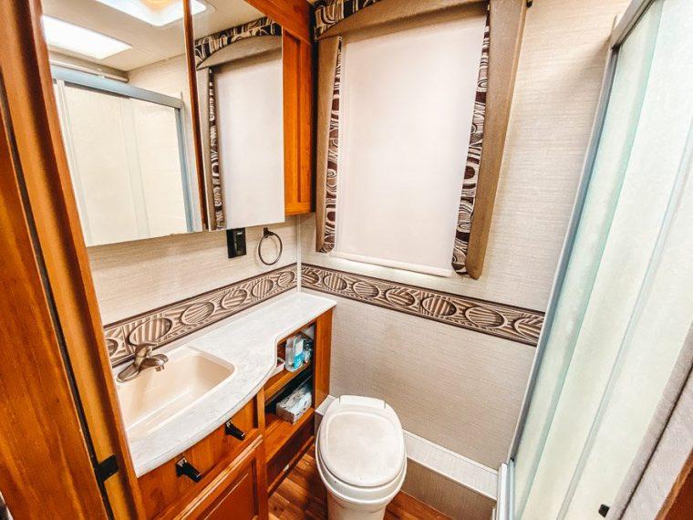 ultimate list of 17 rv bathroom storage ideas - let's travel family