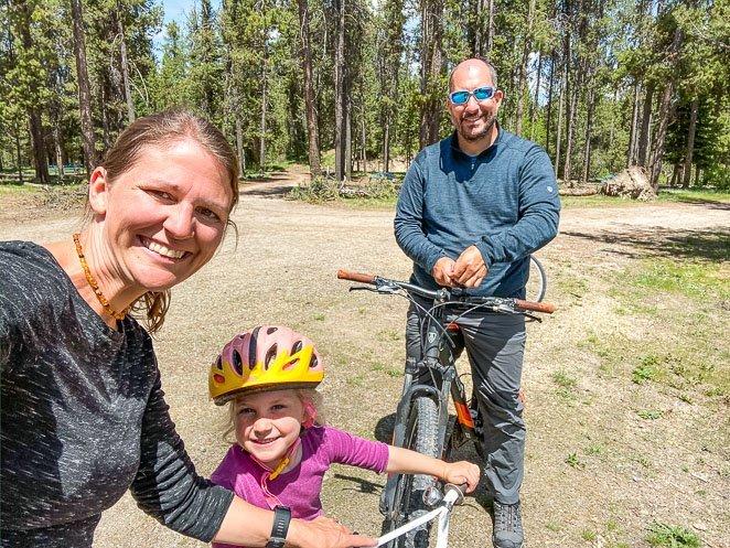 Biking while camping