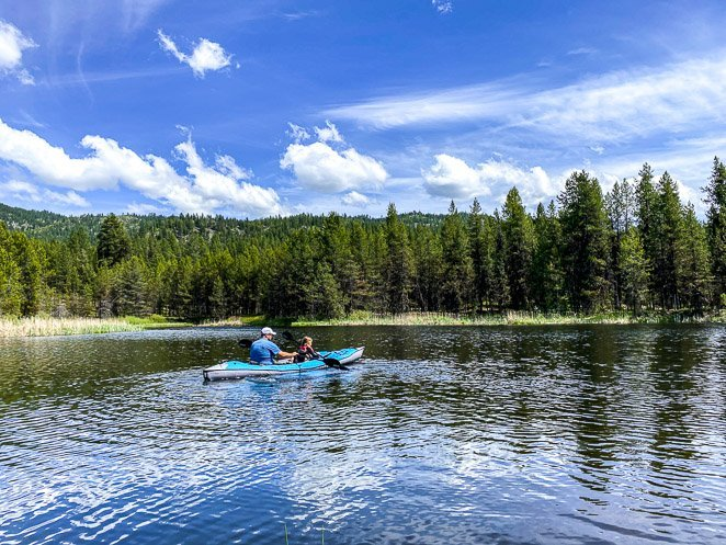 Go Kayaking or canoeing while camping