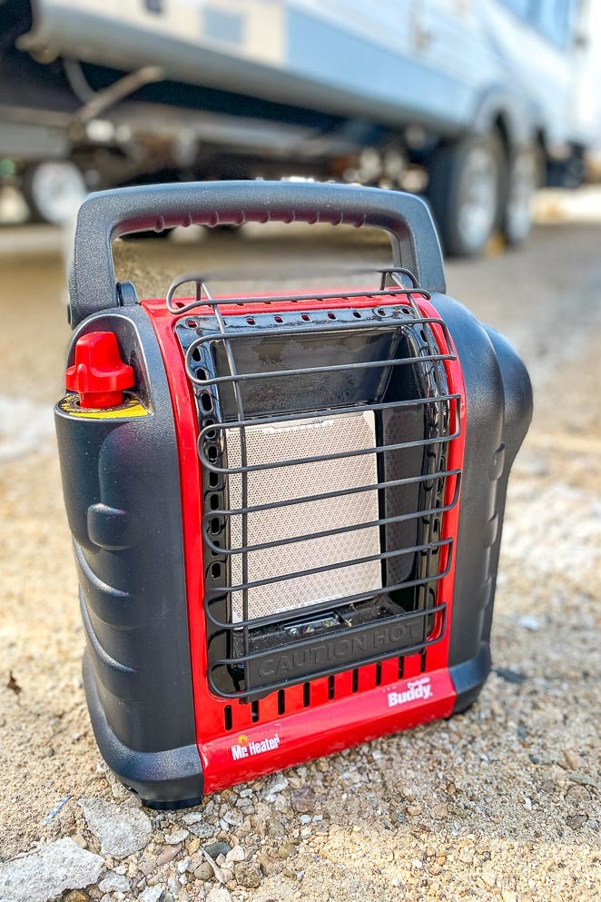 Mr. Buddy Heater for rv boondocking or camping