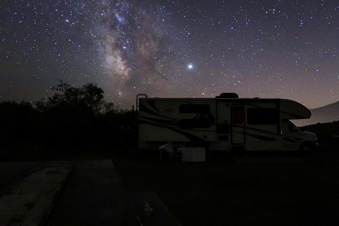 Stargazing at night - fun activities while camping