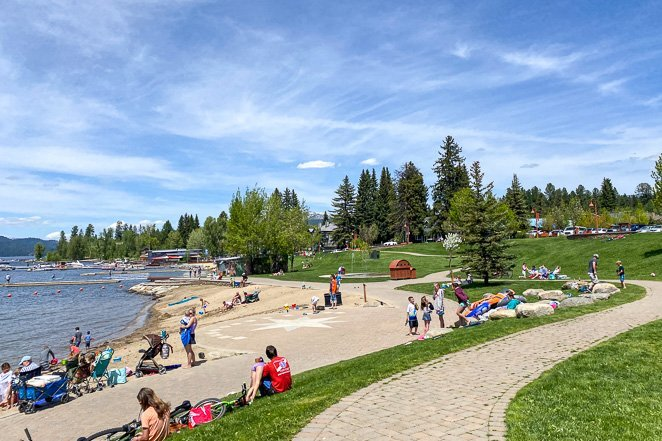 Take a day trip to McCall Idaho and enjoy ice cream on the beach