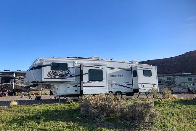 Average RV campsite cost