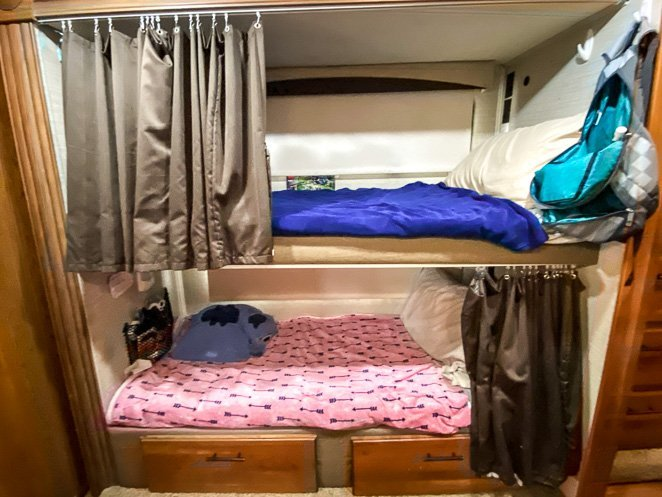 Bunk Beds in Class C RV