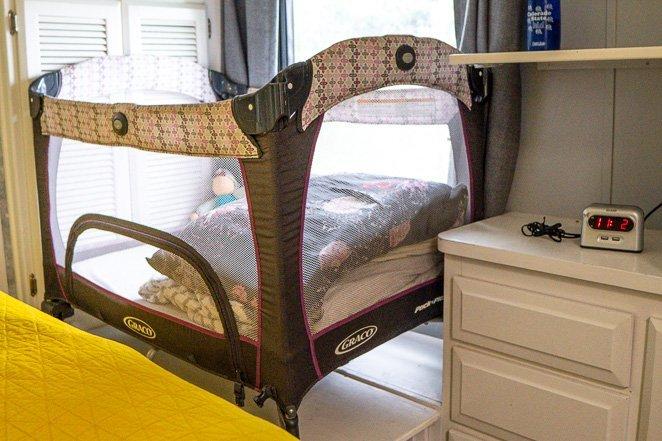 Pack n Play RV cribs or RV baby sleeping space