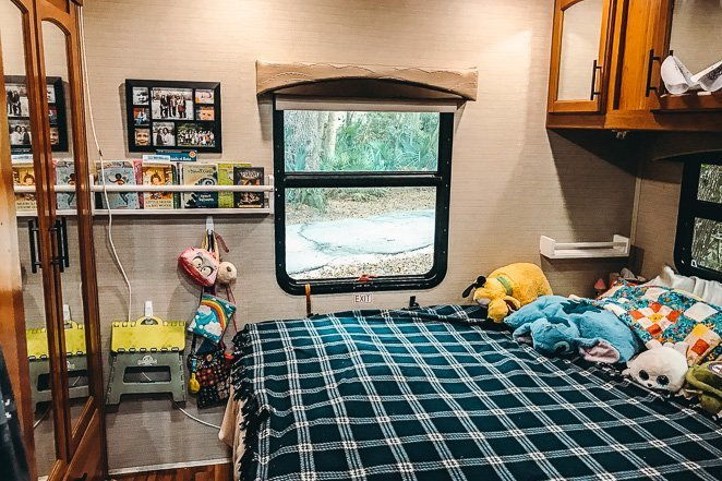 Class C RV Bedroom