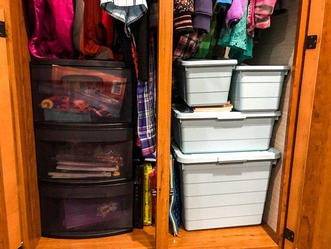 RV Bedroom closet