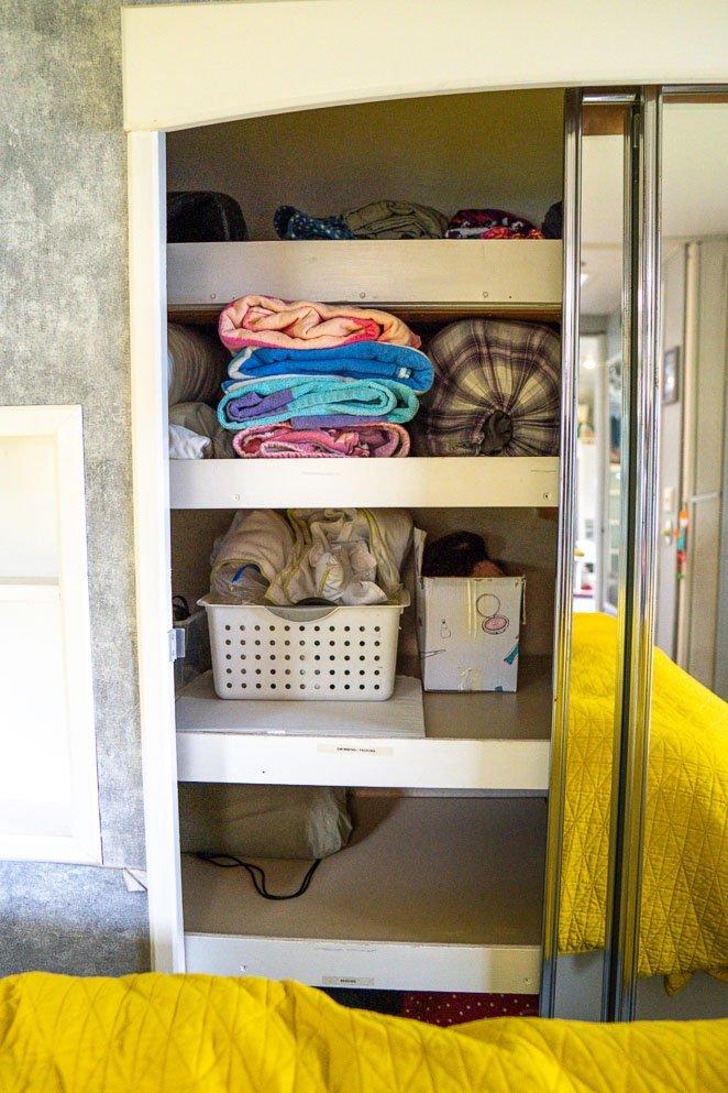 RV closet Shelves