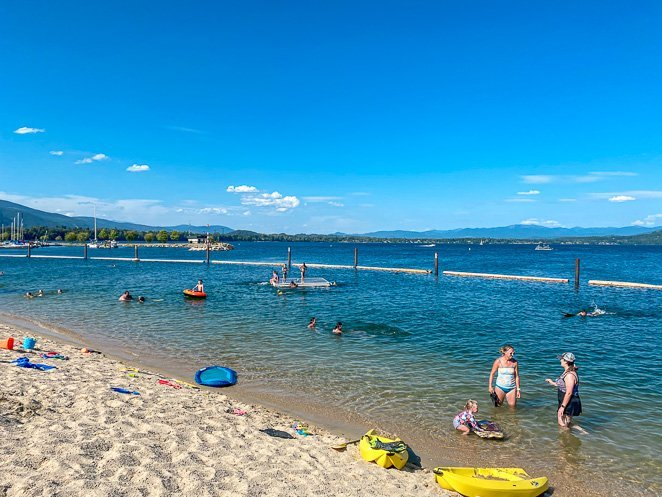 City Park Beach in Sandpoint