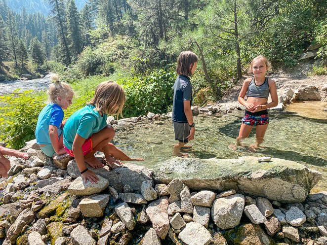 Natural Hot Springs With Kids