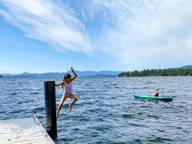 Jump into Priest Lake