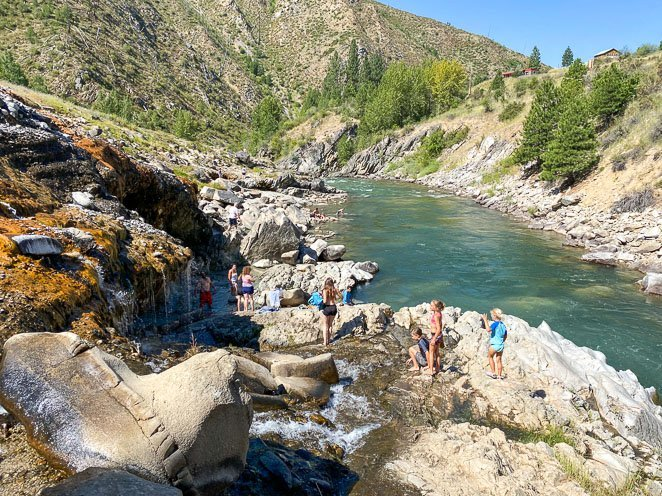 Kirkham Hot Springs with kids