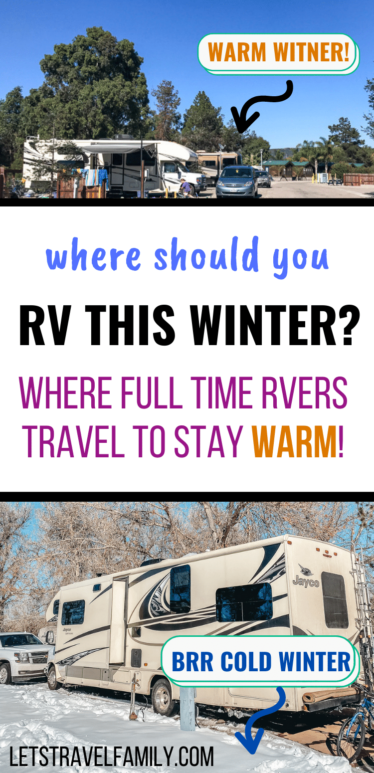 Where to RV this winter to stay warm