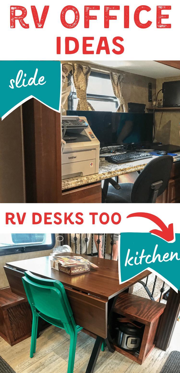 RV Desk and RV Office Ideas
