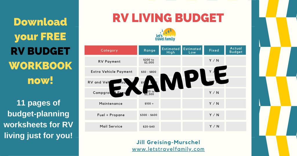 Facebook Budget RV Living Graphic