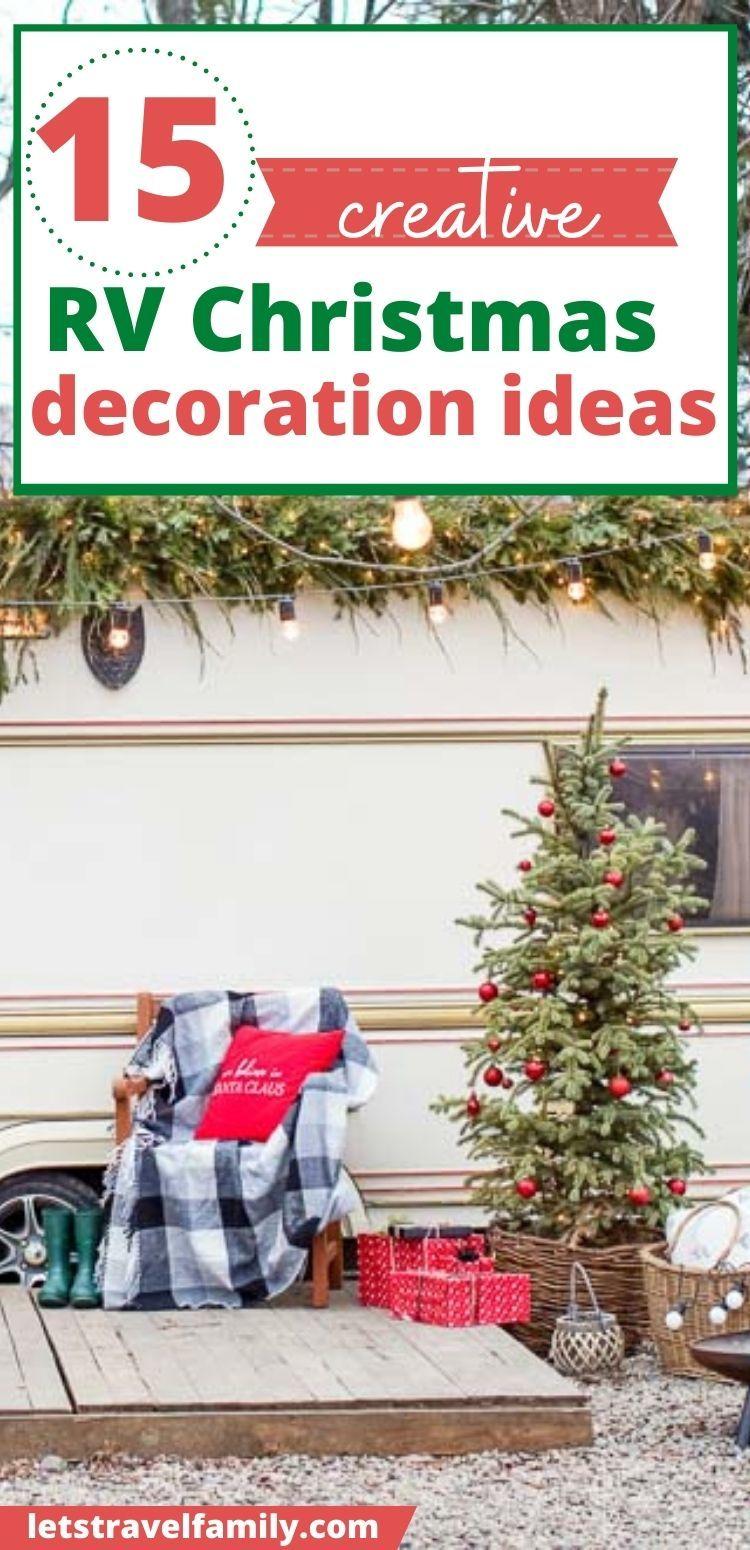 RV Christmas Decorations Pin