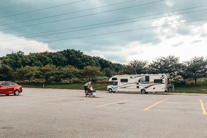 Parking RV at Walmart overnight
