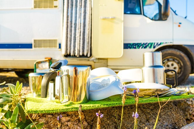 Do a weekly cleaning in your RV