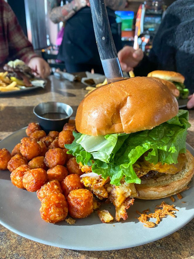Biscuit and Hogs Burger