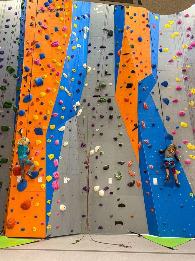 Vertical View Kids climbing Wall