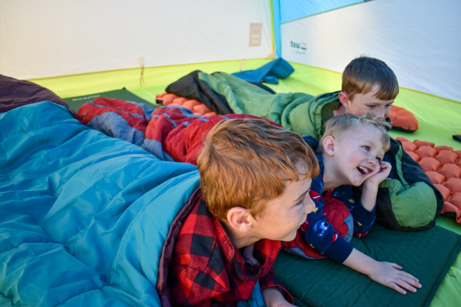 best camping setup for family
