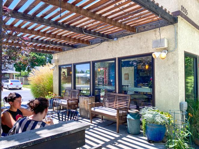 Outdoor seating Coffee Studio Boise Coffee shop