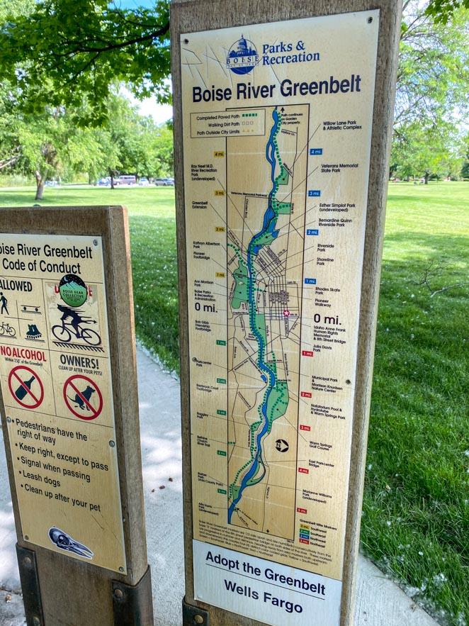 Boise River Greenbelt for biking and hiking