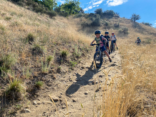 Mountain Bikers on the trails in Boise