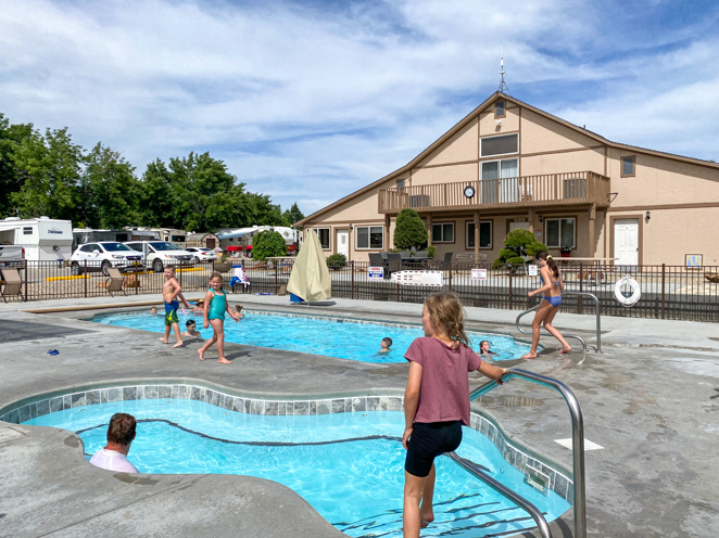 Hi Valley RV Park Pool best camping near Boise