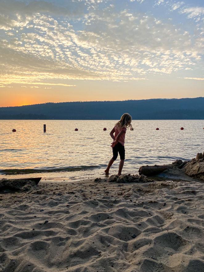 Lake Payette McCall Idaho Sunset