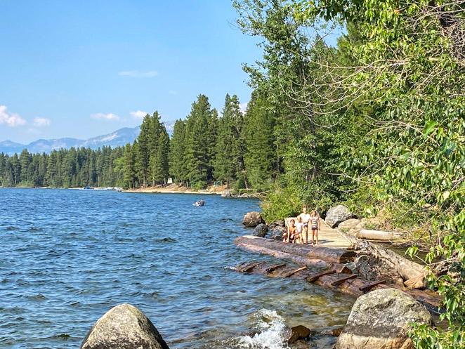 Lake Payette McCall Idaho with kids
